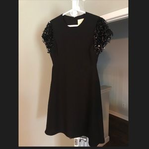 Kate Spade sequins swing little black dress